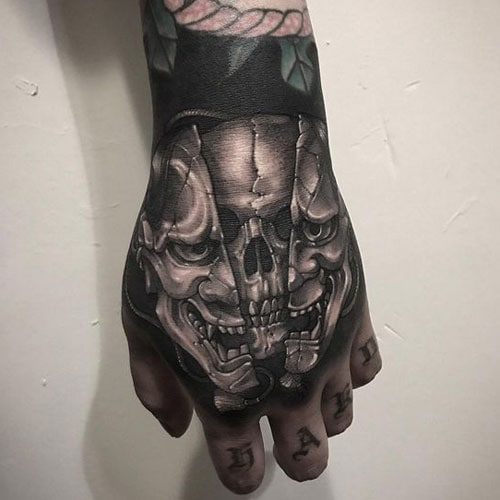Badass Skull Hand Tattoos For Men