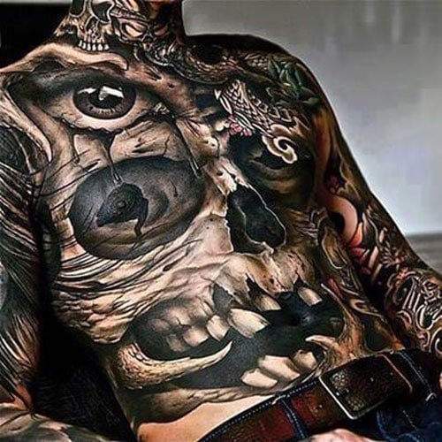 Badass Skull Tattoo Ideas For Men