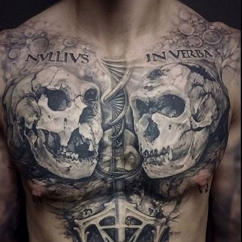 Badass Two Skulls Tattoo
