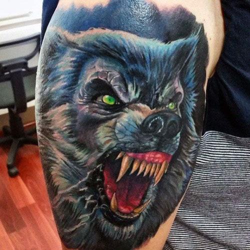 Badass Wolf Tattoos
