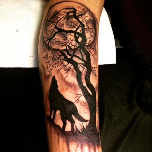 Best Half Sleeve Wolf Tattoos