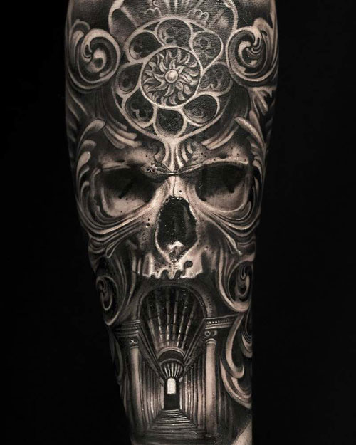 Best Skull Arm Tattoos