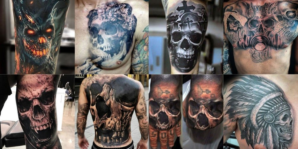 48b8e395d40ae 125 Best Skull Tattoos For Men: Cool Designs + Ideas (2019 Guide)