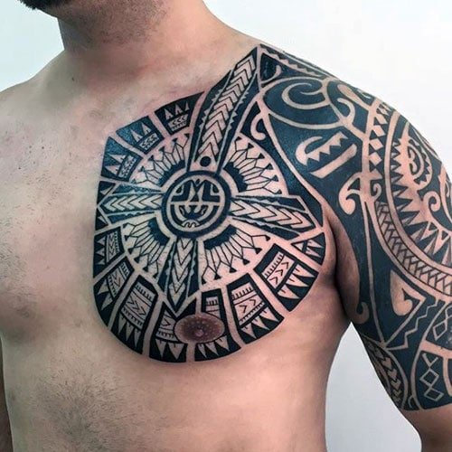Best Tribal Chest Tattoo Designs