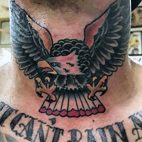 Bird Neck Tattoos For Guys