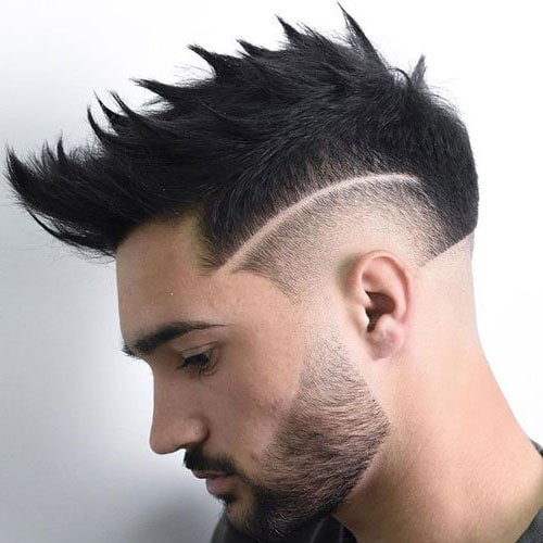 Burst Fade Faux Hawk Haircut