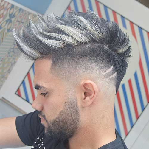 Burst Fade Faux Hawk