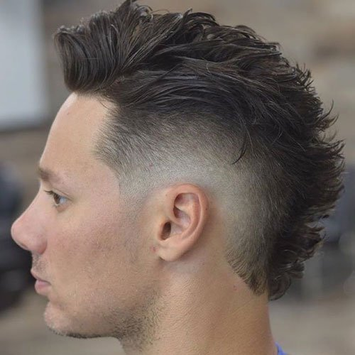 Burst Fade Mohawk Hairstyle