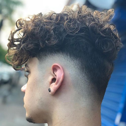 Burst Taper Fade Curly Hair Top
