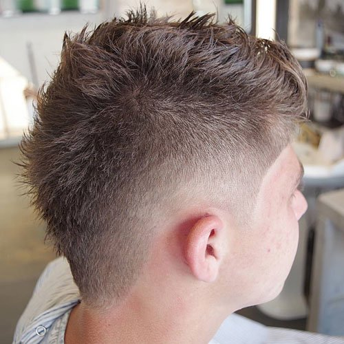 Burst Taper Fade Haircut White Men