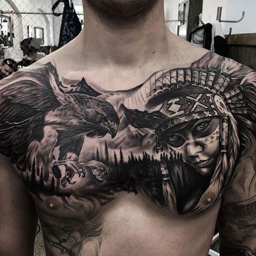 Chest Cover Up Tattoos