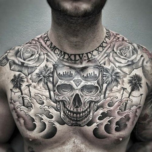 Chest Piece Tattoos For Guys
