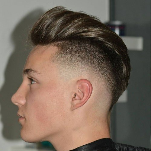 Cool Burst Fade Haircut White Men