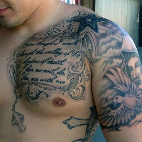 Cool Chest Tattoos For Guys