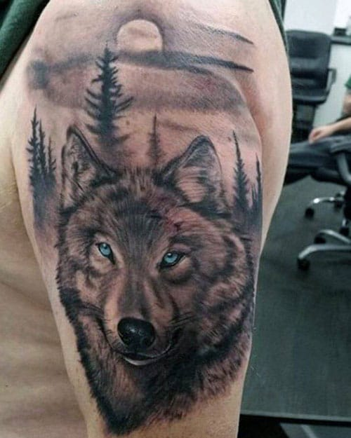 Cool Lone Wolf Tattoo Designs