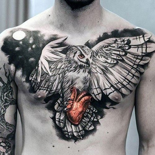 Cool Owl Tattoo For Guys