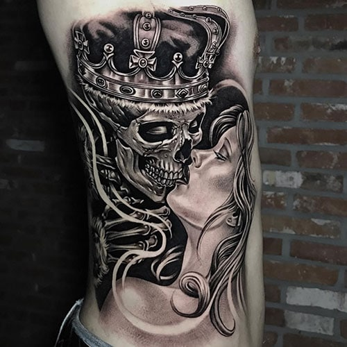 Cool Skeleton Skull Tattoo Designs