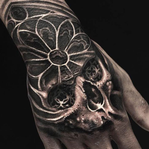Cool Skull Hand Tattoo Ideas