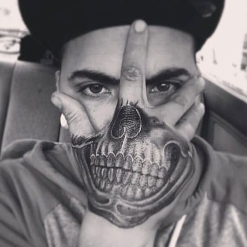 Cool Skull Hand Tattoos For Men