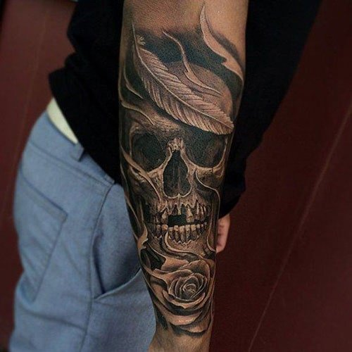 Cool Skull Tattoo Design Ideas For Guys
