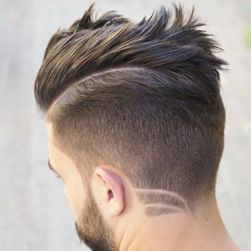 Cool Slicked Back Undercut with Hard Part
