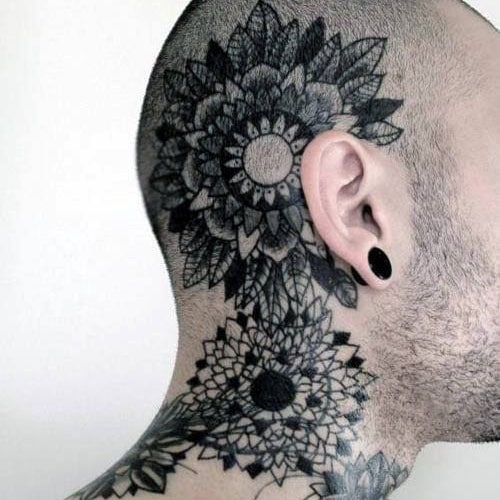 Cool Tattoo Designs For Men's Necks