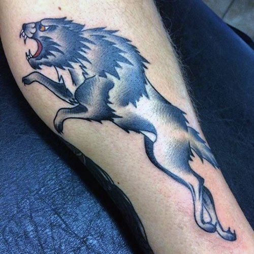 Cool Tribal Wolf Tattoo Designs For Guys