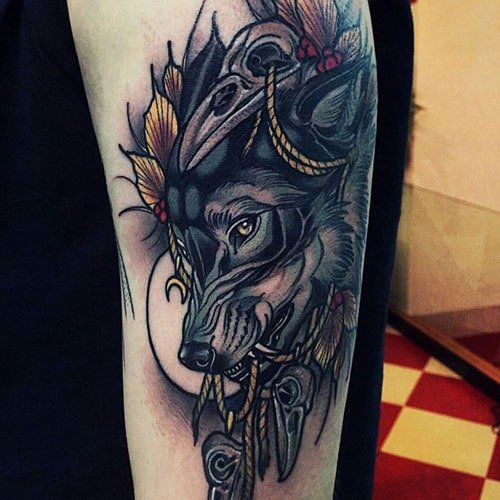 Cool Wolf Tattoo Designs For Men