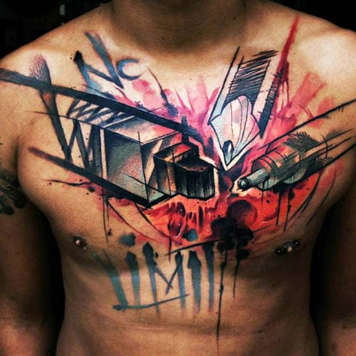 Creative Chest Tattoos