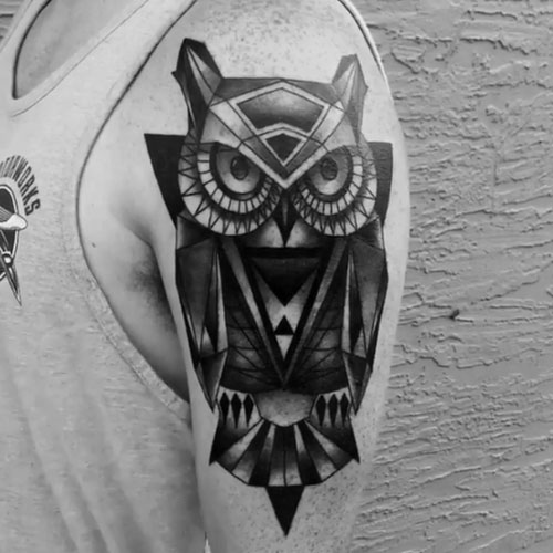 Creative Owl Shoulder Tattoo Designs