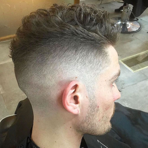 Curly Hair Undercut Fade
