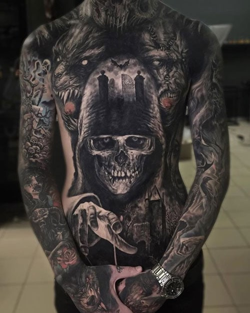 Devil Skull Tattoo