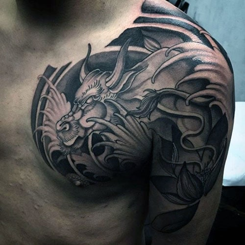 Dragon Chest Tattoo