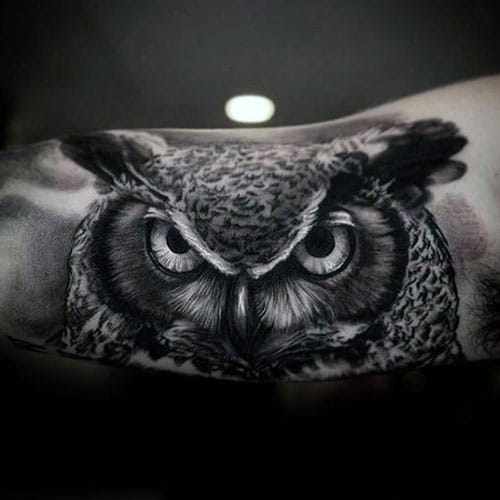 Evil Owl Tattoo