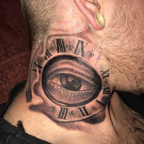 Eye Neck Tattoos