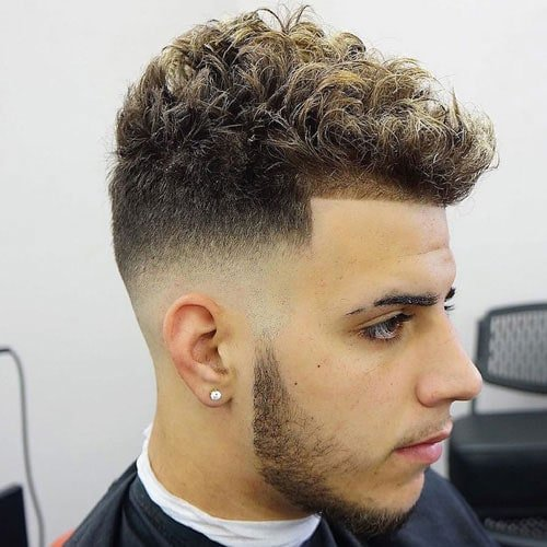 Fade Haircuts For Wavy Hair Men