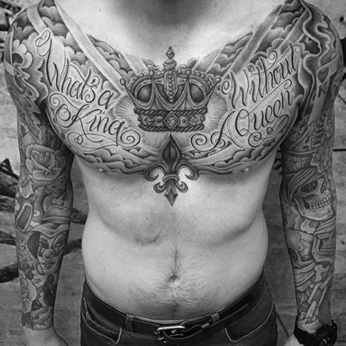 Manly Chest Tattoo Ideas
