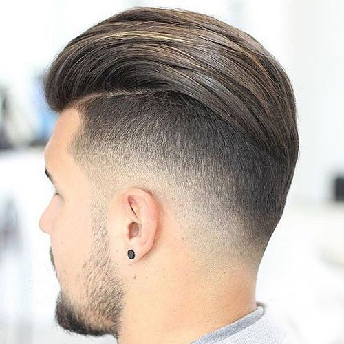 Men's Slicked Back Haircut