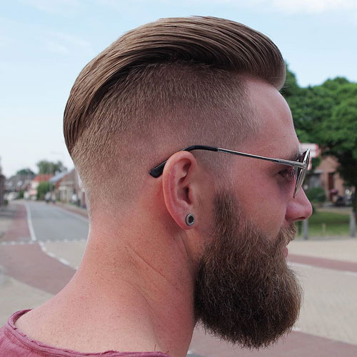 Men's Slicked Back Undercut