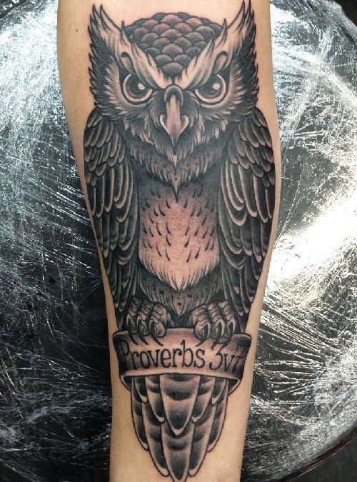 Owl Arm Tattoo Designs