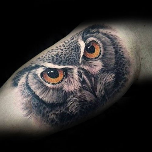 Owl Inner Arm Tattoo