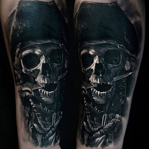 Pirate Skull Tattoo