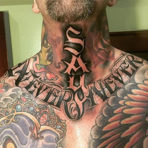 Quote Neck Tattoos