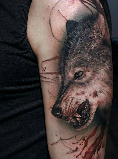 Realistic Wolf Tattoos