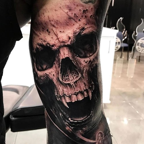 Scary Skull Tattoo Designs
