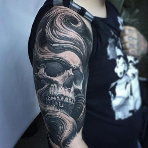 Shoulder Skull Tattoo Designs