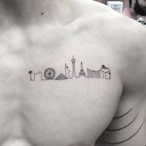 Simple Chest Tattoos For Men