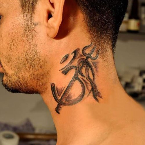 Simple Neck Tattoo Designs