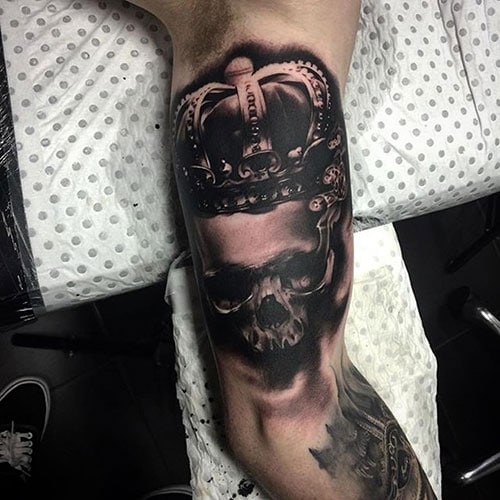 Skull with Crown Tattoo