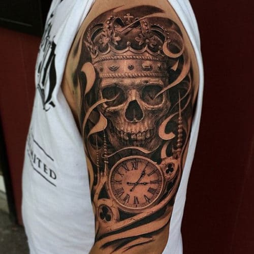 Sleeve Skull Tattoo Designs For Guys